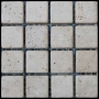 Ivory Travertine Tile Mosaic Square