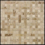 Ivory & Walnut Travertine Tile Mosiac