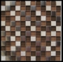 """Cinnamon"" Glass Tile Mosaic"