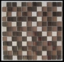 """Cinnamon"" Glass Tile Mosaic Honed"