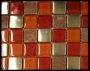 """Fire"" Glass Tile Mosaic"