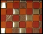 """Fire"" Glass Tile Mosaic Honed"