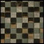 """Smoke"" Glass Tile Mosaic"