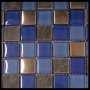 """Water"" Glass Tile Mosaic"
