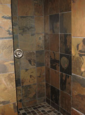 California Gold Slate tiles shower