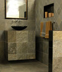 Green Mica Quartzite Tiles Bathroom