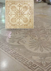 travertine medallion 4 panels