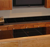 Black Galaxy Granite Tiles Bar Top